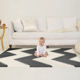 SKIP HOP | Playspot Tapete Borracha Black Cream 3136